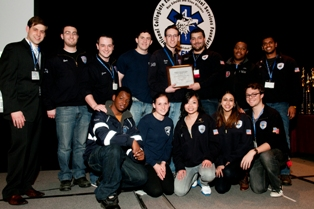 Members of the Stony Brook University Volunteer Ambulance Corps received the 2012-2013 Collegiate EMS Organization of the Year Award at the National Collegiate Emergency Medical Services Foundation's annual conference.